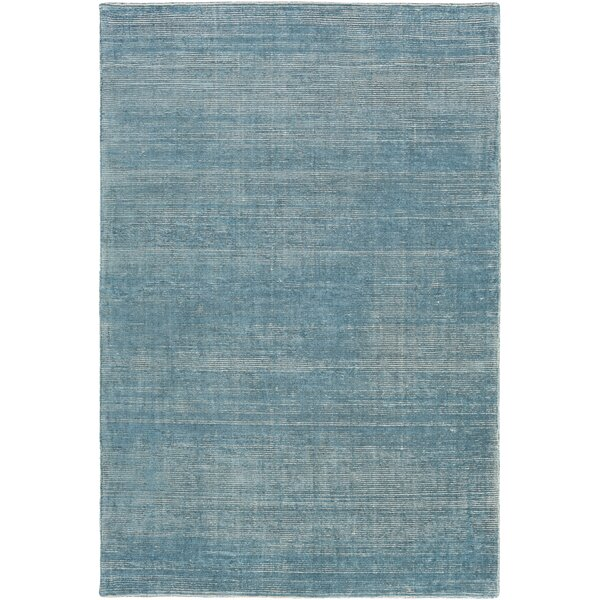 Codey Hand-Loomed Aqua/Khaki Area Rug by Highland Dunes