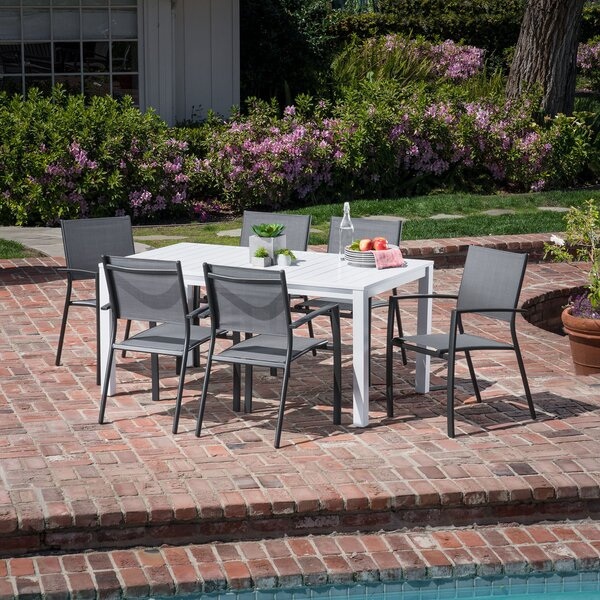 Walden 7 Piece Outdoor Patio Dining Set by Latitude Run