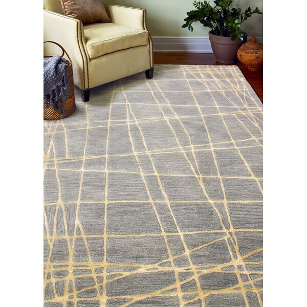 South Ferry Hand-Tufted Gray Area Rug by Latitude Run