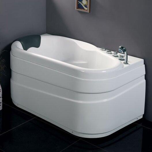 Acrylic Corner 57.13 x 29.88 Bathtub by EAGO
