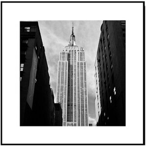 Wood Mounted Empire State Street View Framed Photographic Print by 3 Panel Photo