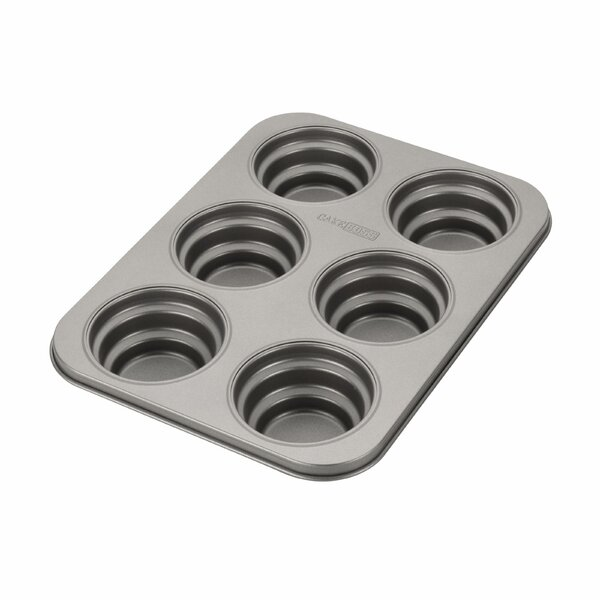Novelty Non-Stick 6 Cup Round Cakelette Pan by Cake Boss