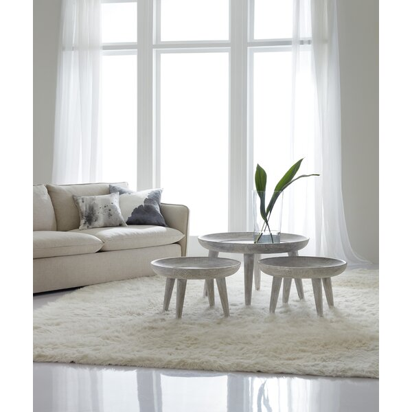 Melange Coffee Table With Nested Stools And Tray Top By Hooker Furniture
