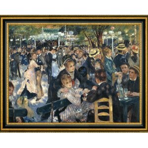 'The Ball at the Moulin de la Galette' by Pierre Auguste Renoir Framed Wall Art Painting Print by Canvas Art USA
