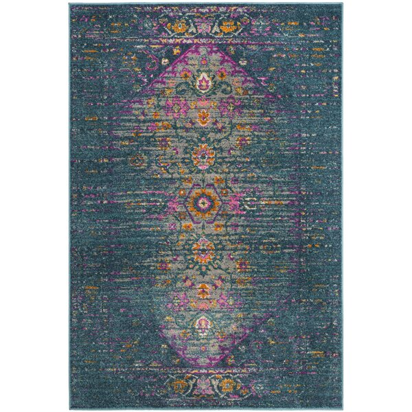 Esparza Blue Area Rug by Bungalow Rose