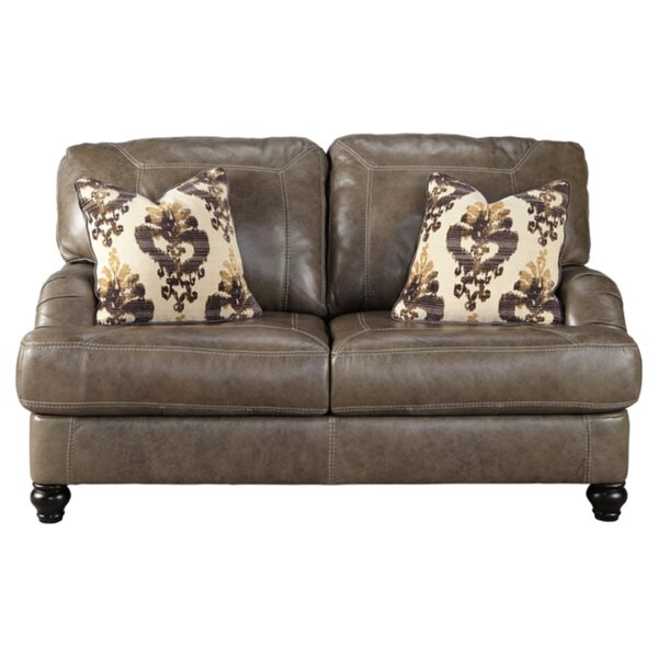 McDonald Leather Loveseat by Darby Home Co