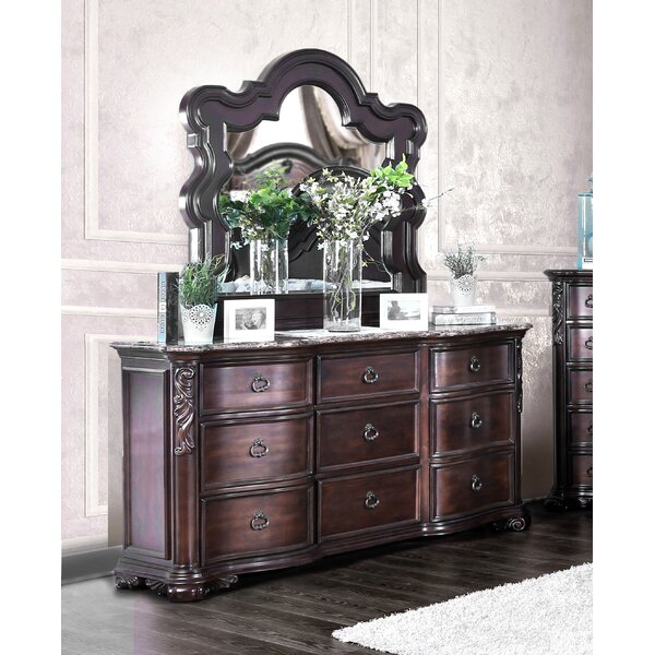 Rippy 9 Drawer Dresser with Mirror by Astoria Grand