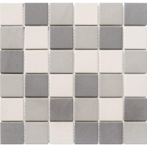 Zone Blend 2 x 2 Porcelain Mosaic Tile in Matte Dark by Emser Tile