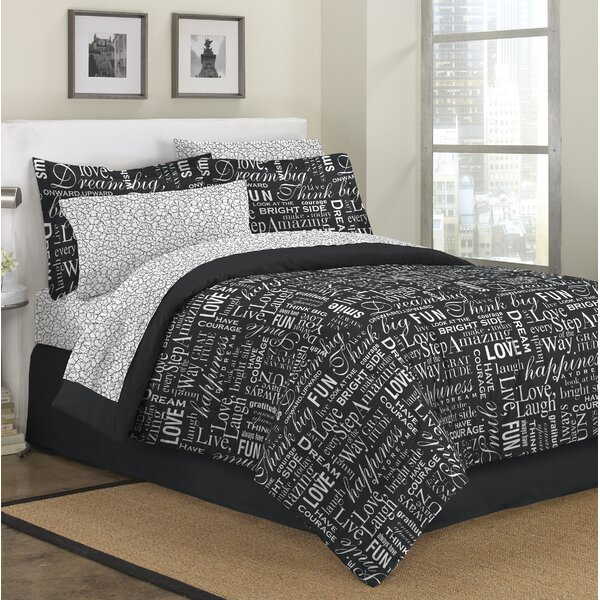 HaddonHeights Live Love Laugh Reversible Comforter Set by Latitude Run