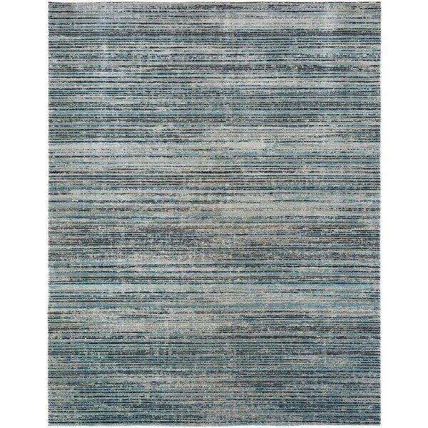 Bump Blue/Light Gray Indoor/Outdoor Area Rug by Wrought Studio