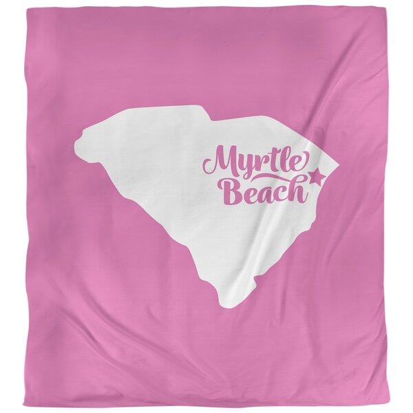 Myrtle Beach South Carolina Single Reversible Duvet Cover