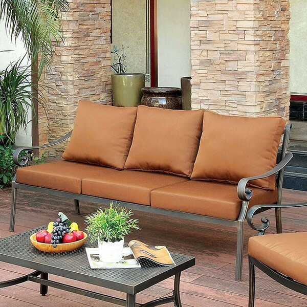 Villalobos Patio Sofa with Cushions by Fleur De Lis Living
