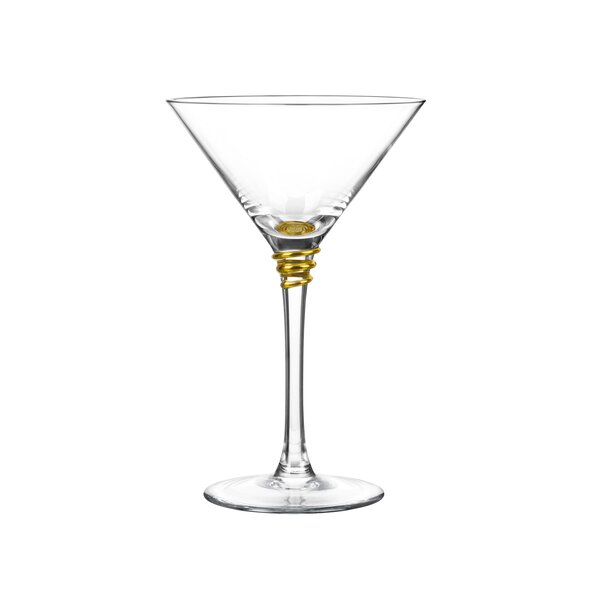 Helix 8 Oz. Martini Glass (Set of 4) by Qualia Glass