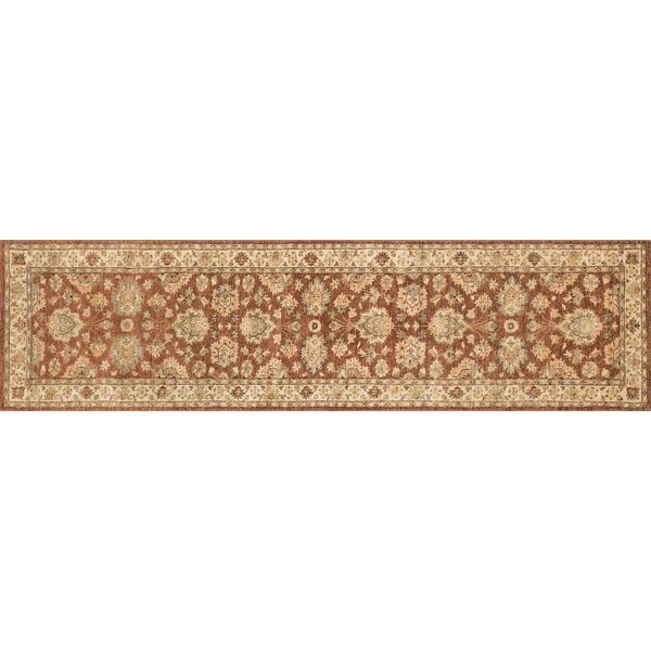 Durden Hand-Knotted Rust/Ivory Area Rug by Darby Home Co