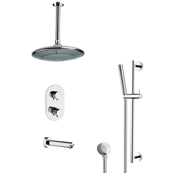 Galiano Thermostatic Complete Shower System with Rough-in Valve by Remer by Nameek's Remer by Nameek's