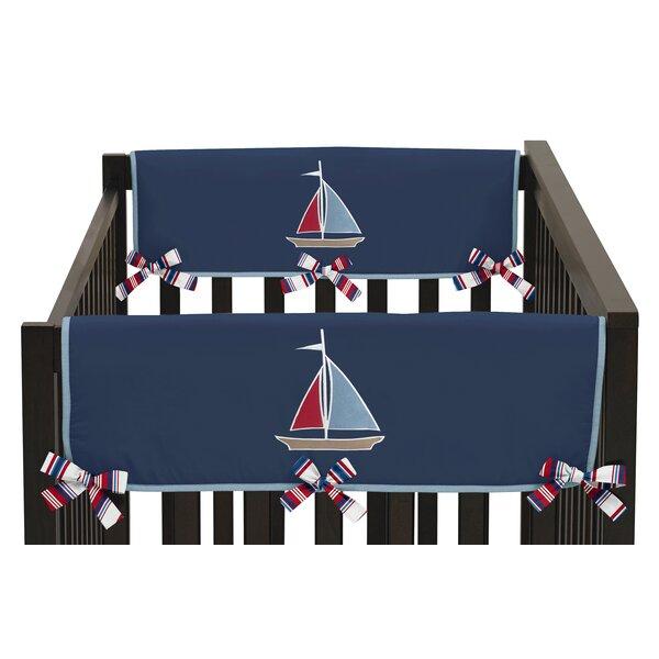 Nautical Nights Side Crib Rail Guard Cover (Set of 2) by Sweet Jojo Designs