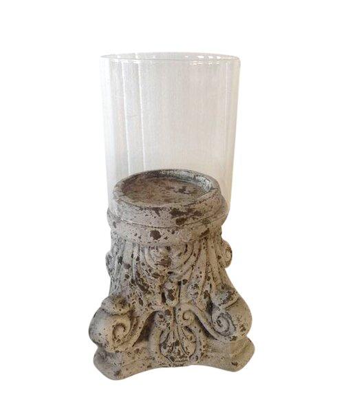 Ceramic Hurricane with Glass by Astoria Grand