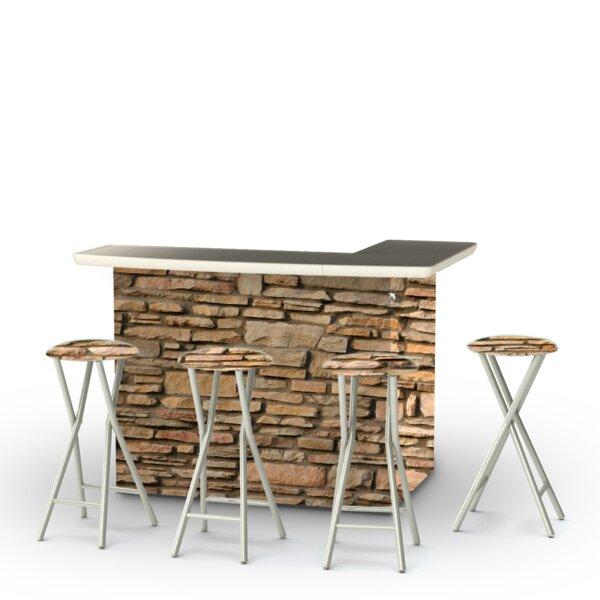 Nielson 5-Piece Bar Set by Loon Peak Loon Peak