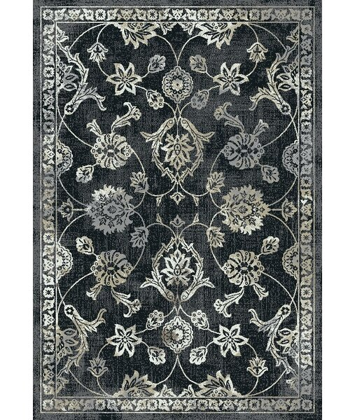 Yannick Black Area Rug by One Allium Way