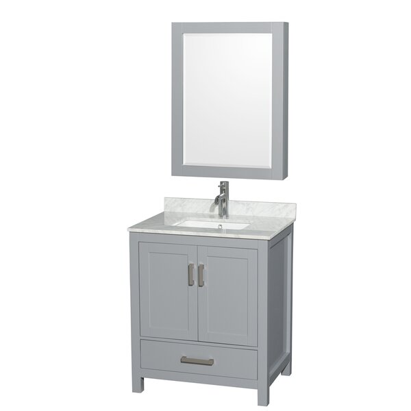 Sheffield 30 Single Bathroom Vanity Set with Mirror