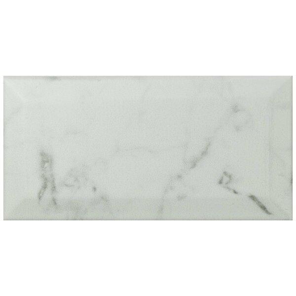 Karra Carrara 3 x 6 Ceramic Subway Tile in Matte Metro White/Gray by EliteTile