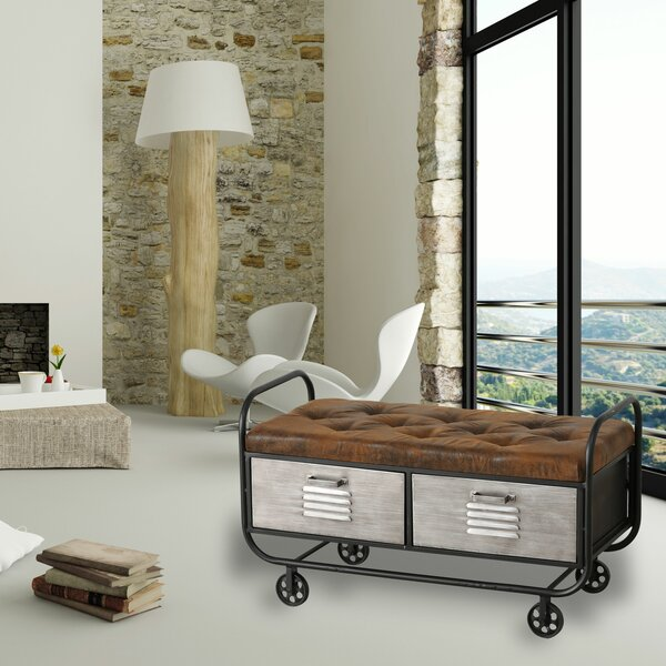 Mcneil Metal Storage Bench by 17 Stories