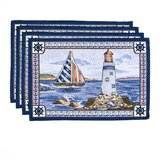 Syracuse Light House 19 Placemat (Set of 6) byBreakwater Bay