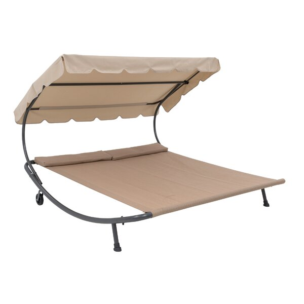 Bedlington Double Hanging Chaise Lounger with Stand