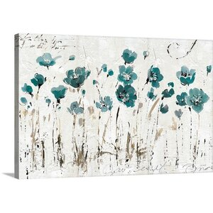'Abstract Balance VI Blue' by Lisa Audit Painting Print on Wrapped Canvas by Great Big Canvas