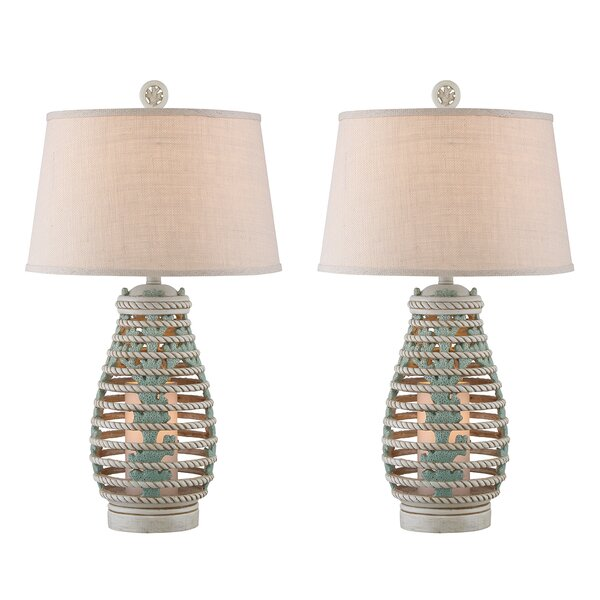 Cassius Lantern 33 Table Lamp (Set of 2) by Beachcrest Home