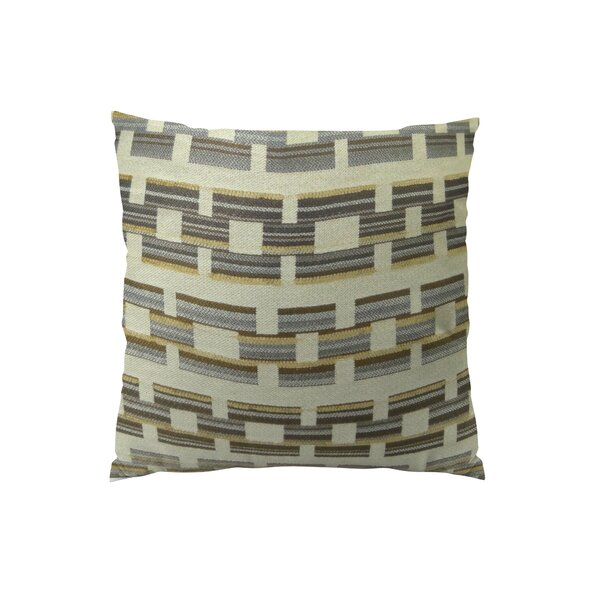 Square Link Handmade Throw Pillow by Plutus Brands