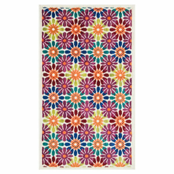 Nanava Blue/Pink Area Rug by Ebern Designs