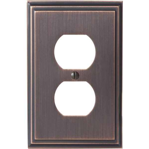 Mulholland Plug Outlet Wallplate by Amerock