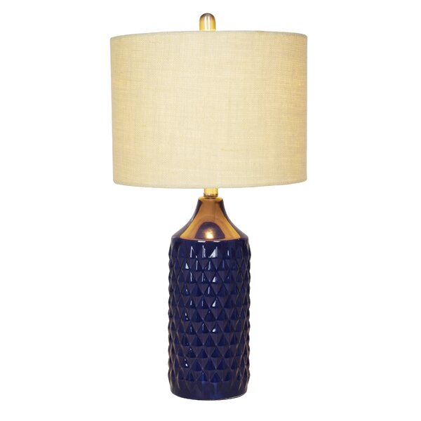 Burrows Quilted 26.5 Table Lamp by Bungalow Rose