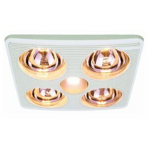 Bathroom Light With Fan And Heater bathroom fans - fans | wayfair