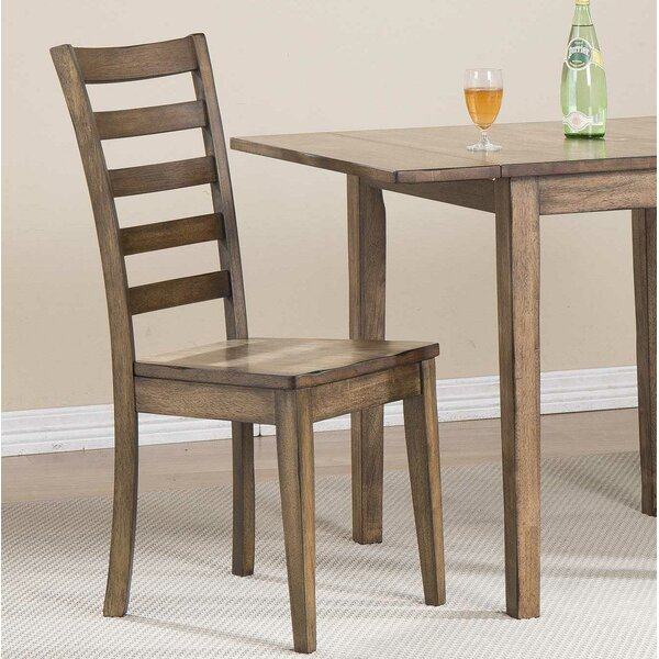 Rutledge Solid Wood Ladder Back Side Chair (Set Of 2) By Rosecliff Heights