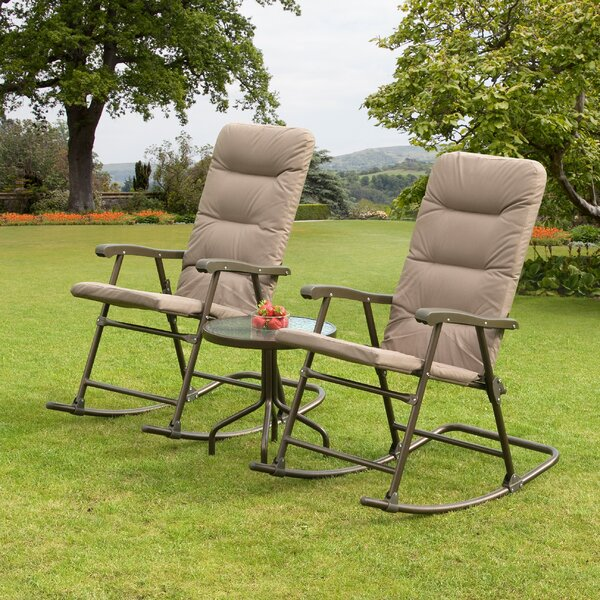Hereford 3 Piece Conversation Set with Cushions by SunTime Outdoor Living
