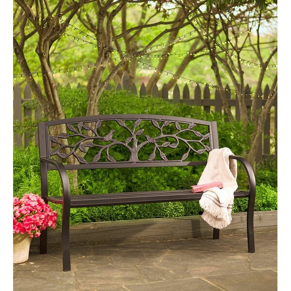 Tree Of Life Metal Garden Bench By Plow & Hearth