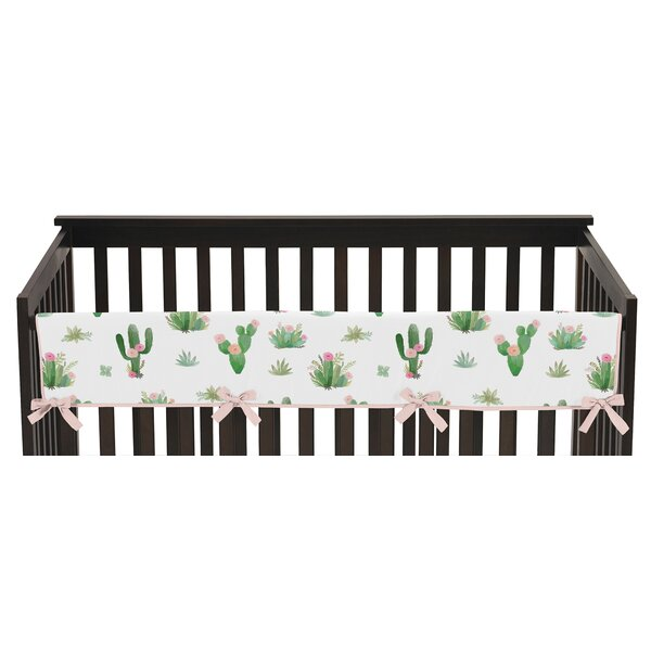 Cactus Floral Crib Rail Guard Cover by Sweet Jojo Designs