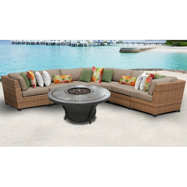 Medina 6 Piece Sectional Seating Group with Cushions by Rosecliff Heights