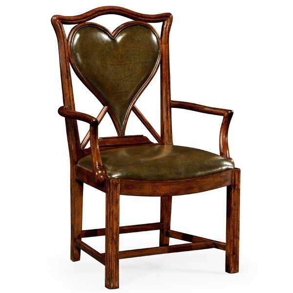 Genuine Leather Upholstered Dining Chair by Jonathan Charles Fine Furniture