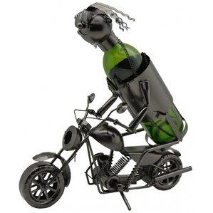 Forrest Motorcycle Rider 1 Bottle Tabletop Wine Rack by Red Barrel Studio