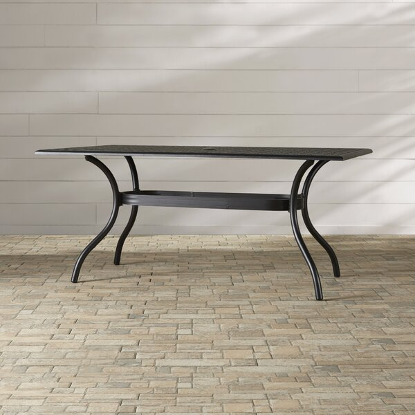 Burrowes Metal Dining Table By Darby Home Co
