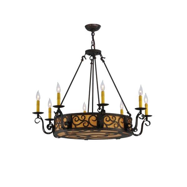 Crescentia 11 - Light Candle Style Drum Chandelier by Fleur De Lis Living Fleur De Lis Living