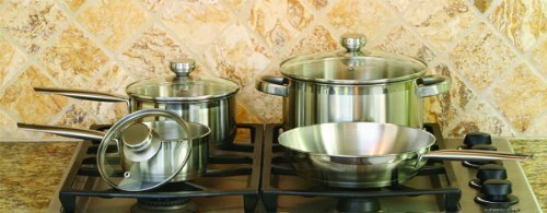 4-Piece Stainless Steel Cookware Set by Cook Pro
