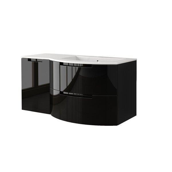 Oasi 43 Single Left Side Cabinet with Shelf Vanity Set by LaToscana