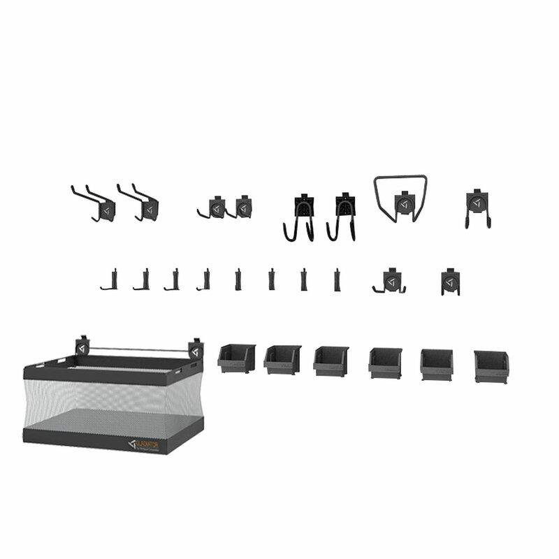 Gladiator GAWA24SKRH GearTrack Accessory Starter 25 Slatwall Accessory Kit