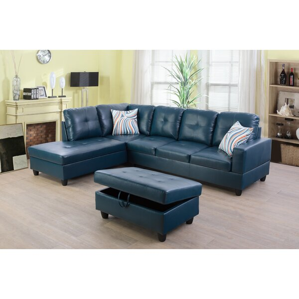 Wilhelmine Sectional With Ottoman By Ebern Designs
