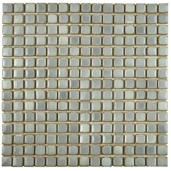 Morgan 0.72 x 0.72 Porcelain Mosaic Tile in Gray Eye by EliteTile