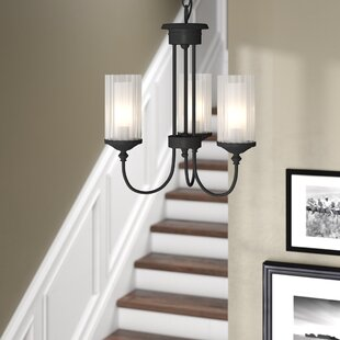 Compare prices Neiman 3-Light Shaded Chandelier By Alcott Hill